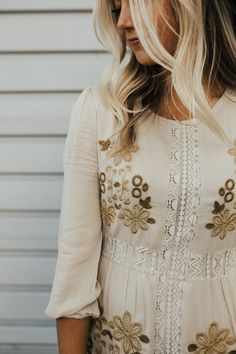 Retro Embroidered Dress | ROOLEE