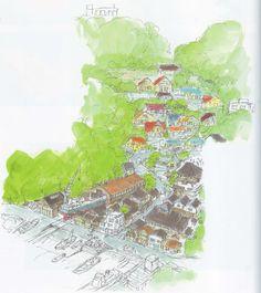 Living Lines Library: 崖の上のポニョ / Ponyo (2008) - Background Design