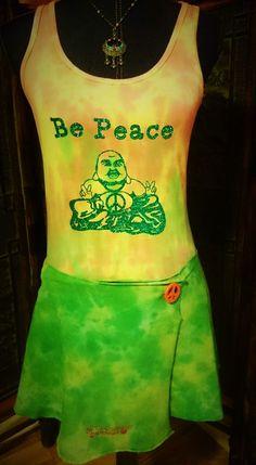 Be Peace Buddha Tie-Dye Yoga Tank top in by BeEverythingTieDye