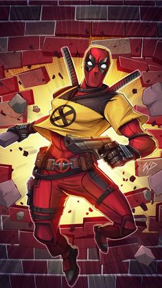 Deadpool Xmen by Puekkers on DeviantArt Films Marvel, Marvel Dc Comics, Marvel Characters, Marvel Heroes, Marvel Avengers, Deadpool Wallpaper, Wallpaper Marvel, Deadpool Art, Mundo Marvel