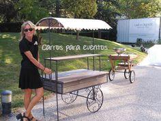 Carros para eventos en el Museo de Traje de Madrid. Nuestros preciosos carros de madera y forja fueron empleados para puestos de limonada en las bodas celebradas en sus jardines, un marco único y grandes profesionales que harán que tu evento sea inolvidable. http://www.carrosparaeventos.es/carrtito-de-madera/