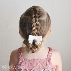 Dutch braid Mohawk into a messy bun #qshairdos @teswood Loved this sassy and sweet hairstyle!