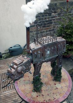 Steampunk AT-AT and AT-ST Walkers From the 'Star Wars' Universe