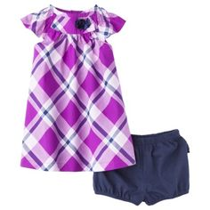 JUST ONE YOU Made by Carters Infant Girls' Dress Set - Purple/Navy 24