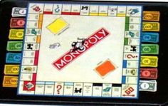 Official Monopoly Game Board With Money Fridge Magnet Big 25 X 35 Inches Click Here