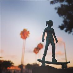 Toyboarders: Little green army men toys reimagined as skaters and surfers. Women, too.  | photo: Rob Kalmbach