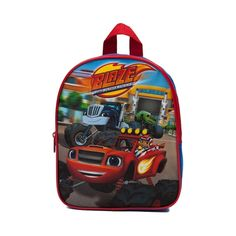Buckle up for Monster Machine awesomeness with the Blaze and the Monster Machines Backpack! Join Blaze and the gang for this fully loaded Mini Backpack, featuring a durable polyester exterior with Monster Machine front graphics, large main compartmen Monster Truck Party, Monster Trucks, Blaze The Monster Machine, 3rd Birthday, Birthday Stuff, Birthday Ideas, George Pig, Party Themes For Boys, Toy Story Party