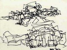 Architectural Sketch   Frank Gehry, Puente de Vida: Panama Museum of Biodiversity, drawing.