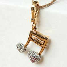juicy fullyjewelled heart-shaped musical note pendant ESC021154