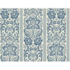 I pinned this Floral Damask Stripe Wallpaper in French Blue from the French Dressing event at Joss & Main!