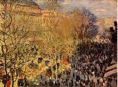 Boulevard des Capucines in Paris 1873 Claude Monet is a famous French painter and one of the founders of the Impressionism movement along with his friends Renoir, Sisley and Bazille. (location of the painting - Pushkin Museum in Moscow) Monet Paintings, Impressionist Paintings, Landscape Paintings, Claude Monet, Camille Pissarro, Boulevard Des Capucines, Paris Kunst, Artist Monet, Art Parisien