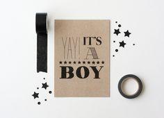 Kaart jongen #boy #jongen #geboorte