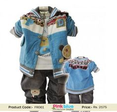 Boy Party Wear Dress - Designer Full Sleeves Jacket, Kids Winter Outfits, Boys Formal Clothing, Grey Trouser, Bunny Print T-shirt, New Arrivals, Infant Warm Clothing, Kids Casual Wear, Handsome 3 Piece Clothing Set for weddings and parties.