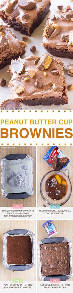 Peanut Butter Cup Brownies-- EASY to make & SO DELICIOUS!!!!