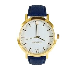 BERG+BETTS watches are ethically and sustainably made. This modern round watches in gold with a navy blue leather strap meticulously crafted from surplus scrap leather that would have otherwise gone to waste. Leather Scraps, Slow Fashion, Stainless Steel Case, Sustainable Fashion, Gold Watch, Vintage Shops, The Originals, Navy, 3 Shop