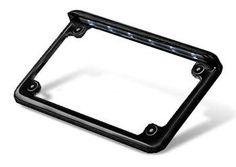 Radiantz LED Illuminator License Motorcycle Plate Frame 8201-52 Horizontal Fitment Chrome Finish