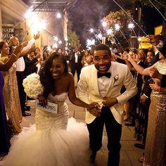 This is an amazing shot. @waleariztos fabulous job. And congrats to the new Mr & Mrs Mebanes! #DCWedding #WeddingWednesday #MeetTheMebanes #Sparklers #BrideandGroom #JustMarried #BBLifestyle #BlackBride #BlackBride1998