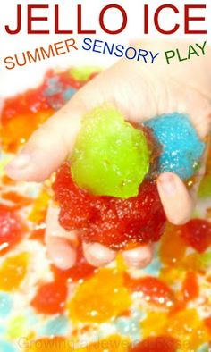 Summer Fun - Jello Ice Play - Pinned by @PediaStaff – Please Visit  ht.ly/63sNt for all our pediatric therapy pins