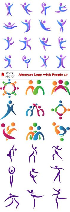 Vectors - Abstract Logo with People 17