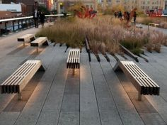 The High Line, park in the sky, New York - converted from elevated rail track route.