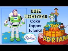 Toy Story (Cake Topper): Buzz Lightyear / Cómo hacer a Buzz para tortas
