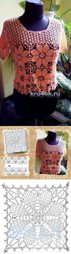 Кофточка крючком – работа Аллы - вязание крючком на kru4ok.ru