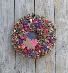 Ízek, imák, szerelmek-őszi ajtódísz, Dekoráció, Otthon, lakberendezés, Meska Ornament Wreath, Ornaments, Topiary, Christmas Wreaths, Floral Wreath, Easter, Holiday Decor, Spring, Autumn
