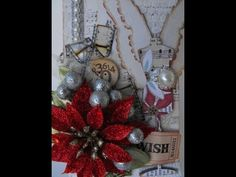 Christmas Tag & Gift Card Holder with Tim Holtz and Silhouette Cameo