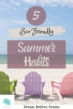 5 Eco Friendly Summer Habits || Are you trying to live a more eco friendly lifestyle? Maybe you want develope more eco friendly habits. In this post I share with you my 5 top eco friendly summer habits that you can start this summer. #ecofriendly #ecofriendlysummerhabits #summerhabits #ecofriendlylifestyle #summertime #summer