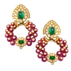 Day/Night Earclips by GIOVANE | From a unique collection of vintage drop earrings at https://www.1stdibs.com/jewelry/earrings/drop-earrings/