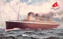shi002214 - Titanic Ship Post Card Old Vintage Antique