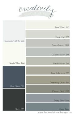 Popular and versatile cabinet paint colors for kitchen, bath and built-ins. The Creativity Exchange