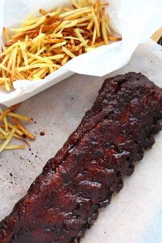 Oven-baked sweet and spicy spare ribs(anything you can bake in the oven you can cook on the BBQ)