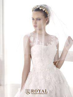 板橋蘿亞手工婚紗 Royal handmade wedding dress 婚紗攝影 購買婚紗 單租婚紗 西班牙 Pronovias MELIBEA