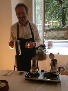 Alberto Trabatti, master roaster of Torrefazione Penazzi in Ferrara, a great connoisseur of the art of coffee. He's also a sponsor of the event.