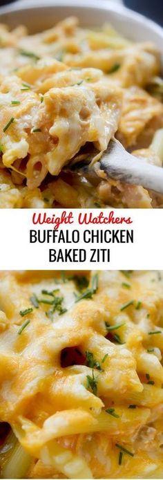 Buffalo Chicken Baked Ziti - Weight Watchers