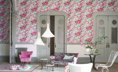 Designers Guild debuts its new 'Shanghai Garden' wallcoverings collection at the Stockholm Furniture Fair.