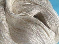 LACE Silk Linen Undyed Yarn 2 Ply Undyed Lace Yarn by stickchick