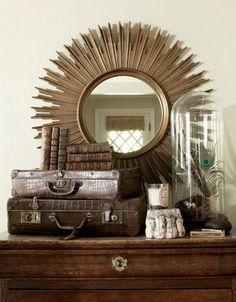 Inspired by the British Empire: Colonial-inspired house and interior design - Luscious: myLusciousLife.com living room dresser