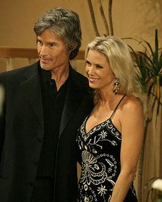 Ronn Moss and Katherine Kelly Lang Soap Opera Stars, Soap Stars, Ridge Forrester, Rena Sofer, Katherine Kelly, Theatre Of The Absurd, Celebrities Then And Now, Tv Couples, Bold And The Beautiful