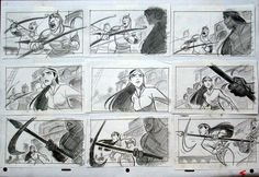 A storyboard. Not sure what it's from, but it looks great!