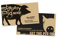 brewery business card  | ... Pig Brewery…or just check out their new cool business cards