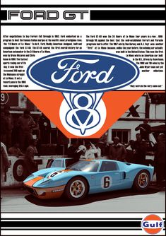 Ford Vintage Add by ZornxIV on DeviantArt Ford Gt40, Us Cars, Sport Cars, Race Cars, Martini Racing, Karting, Mustang Cars, Ford Mustang, Le Mans