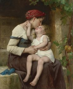 LÉON PERRAULT, 1832-1908, French, Mother With a Child.