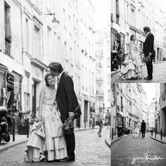 Relaxed Wedding Portraits on the streets of Paris - Paris Love Story by Gina Brocker Photography