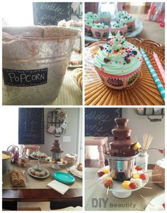 Birthday party decor and snack ideas for tween girl...all set to a little ditty I wrote myself! | DIY beautify
