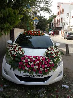 85 Pretty Wedding Car Decorations Diy Ideas Red & White Heart Wedding Cars Ideas In 2019 Wedding Car Ribbon, Wedding Cars, Wedding Blog, Diy Wedding, Gate Decoration, Bridal Car, Wedding Car Decorations, Cute Car Accessories, Flower Delivery