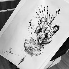Bear Tattoos, Body Art Tattoos, Girl Tattoos, Tattoos For Women, Panda Tattoos, Ship Tattoos, Arrow Tattoos, Piercing Tattoo, Arm Tattoo
