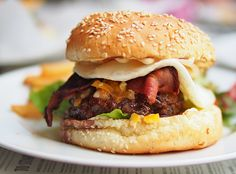 The CW Burger Breakfast from The Market Grill, Singapore. My current favourite burger. @FoodBlogs