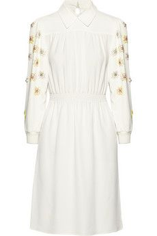 Miu Miu Embellished crepe dress | NET-A-PORTER